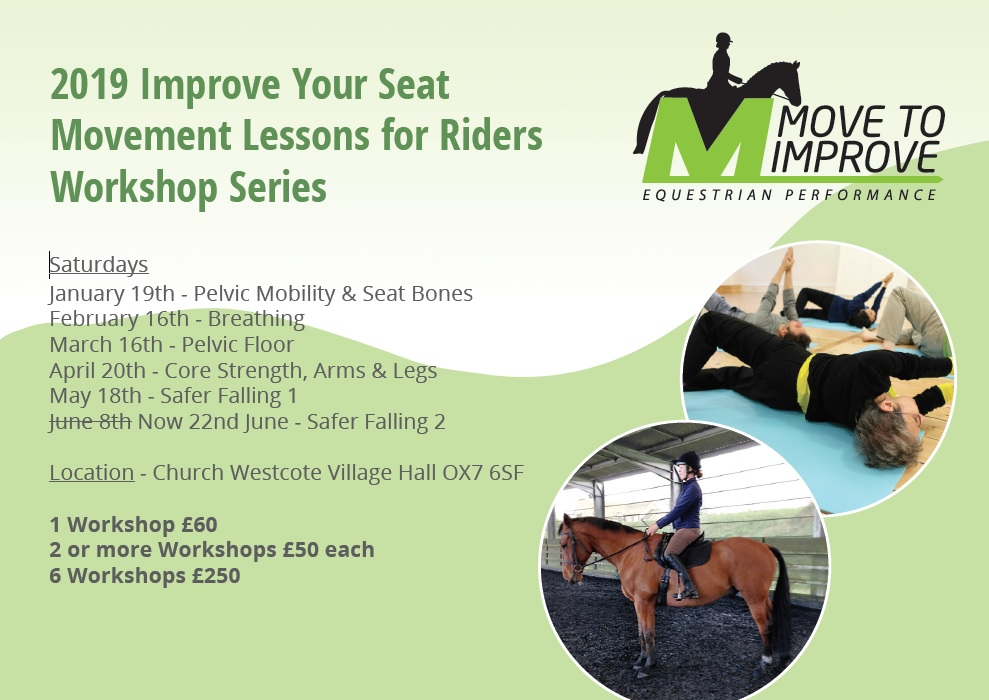 Improve Your Seat 2019 Workshop Series Overdale Equestrian Centre